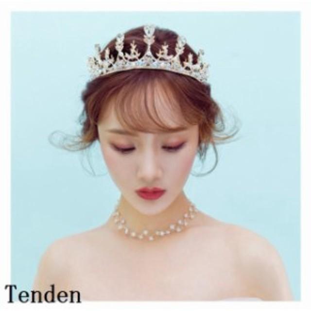c108ec937be2e ウエディング クラウン ウェディング ティアラ ヘッドドレス ブライダル用 ティアラ 王冠 結婚式 二次会 花嫁 王冠 ヘア