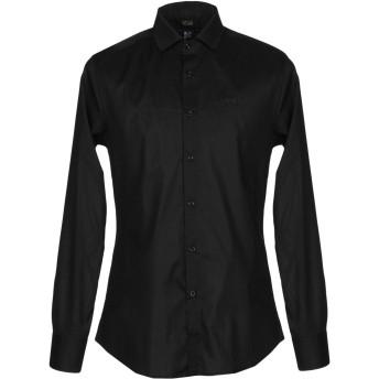 《セール開催中》CAVALLI CLASS メンズ シャツ ブラック 48 コットン 100%