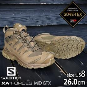 サロモン ブーツ XAフォース ミッドカット GTX 26cm〜30cm ゴアテックス 特殊部隊 軽量 サバゲ 装備品 BOOTS 登山 SALOMON 靴 solocamp