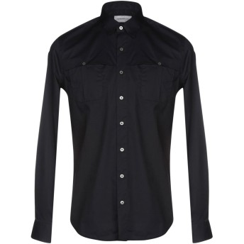 《セール開催中》HAMAKI-HO メンズ シャツ ダークブルー M コットン 97% / ポリウレタン 3%