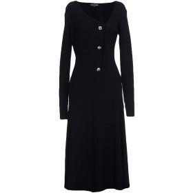 《期間限定セール中》MALAIKA RAISS レディース 7分丈ワンピース・ドレス ブラック XS ウール 50% / アセテート 50% / ポリエステル / レーヨン / ナイロン