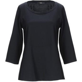《セール開催中》SEVENTY SERGIO TEGON レディース T シャツ ブラック 40 コットン 100%