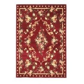 ds-2113718 トルコ製 ラグマット/絨毯 【160cm×230cm レッド】 長方形 高耐久 ウィルトン 『ロゼ』 〔リビング ダイニング〕【代引不可】 (ds2113718)