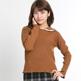 ニット・セーター - WEGO【WOMEN】 BIGカラーリブニット BR18WN11-L020