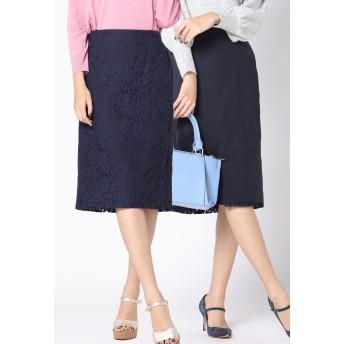 VICKY 【WEB&一部店舗限定】リバーシブルタイトスカート その他 スカート,ネイビー