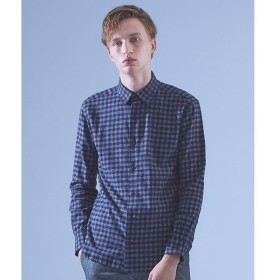ABAHOUSE / アバハウス 【Recency of Mine】撚り杢シャギーギンガムチェックシャツ