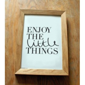 OLD ENGLISH CO. | ENJOY THE LITTLE THINGS PRINT (BLACK/WHITE BACKGROUND) | A3 アートプリント/ポスター【ロンドン