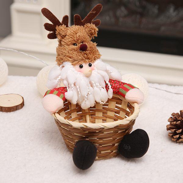 聖誕禮品103 聖誕樹裝飾品 禮品派對 聖誕裝飾籐編糖果盒
