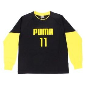 プーマ(PUMA) レイヤードロングスリーブTシャツ 594289 01 BLK (Jr)