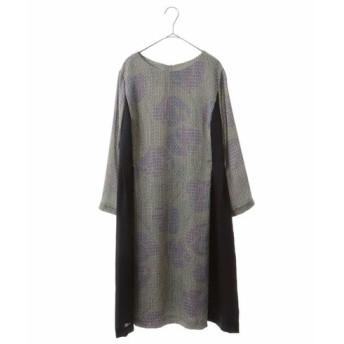 HIROKO BIS GRANDE ヒロコビス グランデ / 【洗える】切り替えプリントドレス