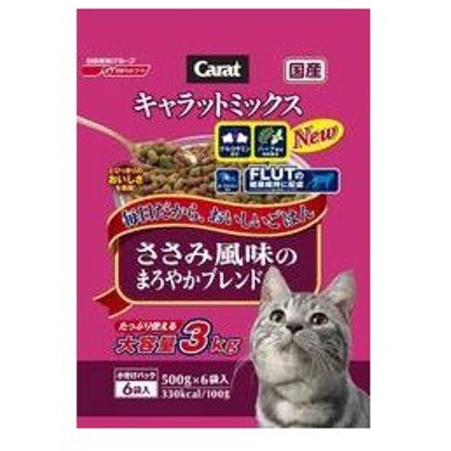 Nisshin/日清ペットフード  キャラットミックス ささみ風味のまろやかブレンド 3kg