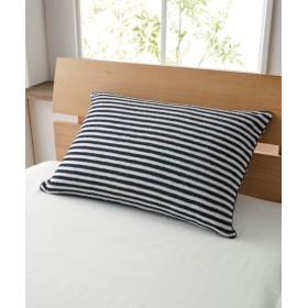 【消臭加工付】綿100%タオル地のL字ファスナー枕カバー(ボーダー柄) 枕カバー・ピローパッド