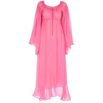 《9/20まで! 限定セール開催中》ATTICO レディース 7分丈ワンピース・ドレス フューシャ 40 シルク 53% / キュプラ 47%