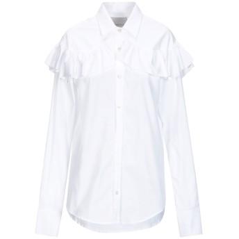 《セール開催中》LANEUS レディース シャツ ホワイト 40 コットン 100%