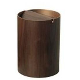 ゴミ箱 木製 おしゃれ インテリア 北欧 ミッドセンチュリー ごみ箱 プライウッド ダストボックス WN952A 回転蓋(L) ウォールナット サイ