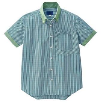 セロリー 半袖シャツ(ユニセックス) グリーン LLサイズ S−63445−LL 1着 (メーカー直送・代引不可)