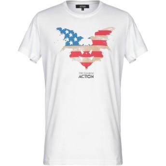 《9/20まで! 限定セール開催中》TRUSSARDI ACTION メンズ T シャツ ホワイト XL ポリエステル 52% / コットン 48%