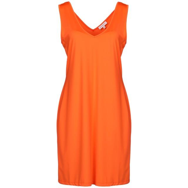 《期間限定セール開催中!》ANNA RACHELE RESORT レディース ミニワンピース&ドレス オレンジ 42 ナイロン 90% / ポリウレタン 10%
