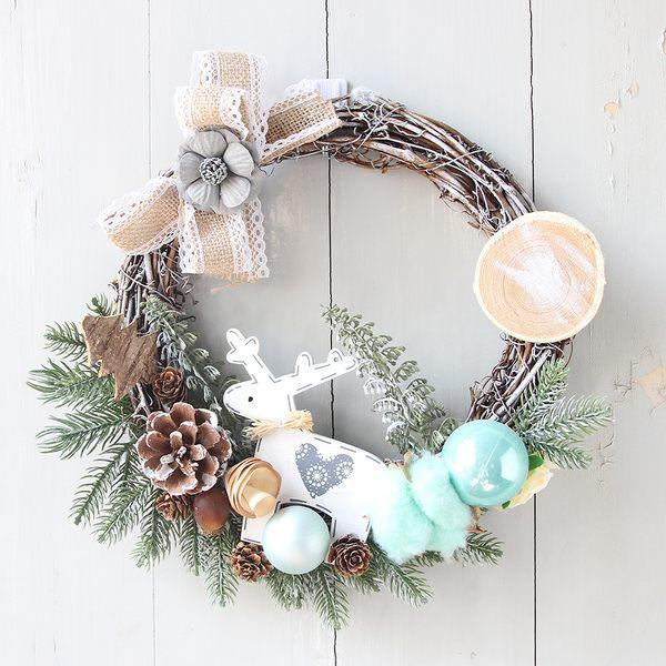 聖誕禮品101 聖誕樹裝飾品 禮品派對 聖誕裝飾籐編花環