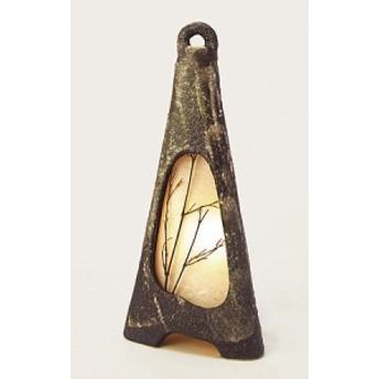 信楽焼陶器 灯り ライト 照明 行燈 あんどん スタンド 明かり 和風 洋風 室内照明 こころ 高39.0cm