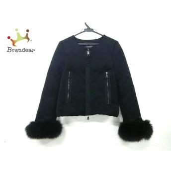 コトゥー ダウンジャケット サイズ38 M レディース 美品 黒 ノーカラー/ラインストーン/冬物 値下げ 20190223