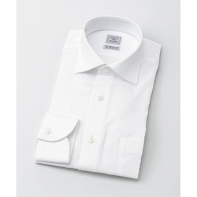 <CHOYAシャツメーカー/CHOYA SHIRT MAKER> 長袖白ドビーシャツ(CID800-200) 200シロ 【三越・伊勢丹/公式】