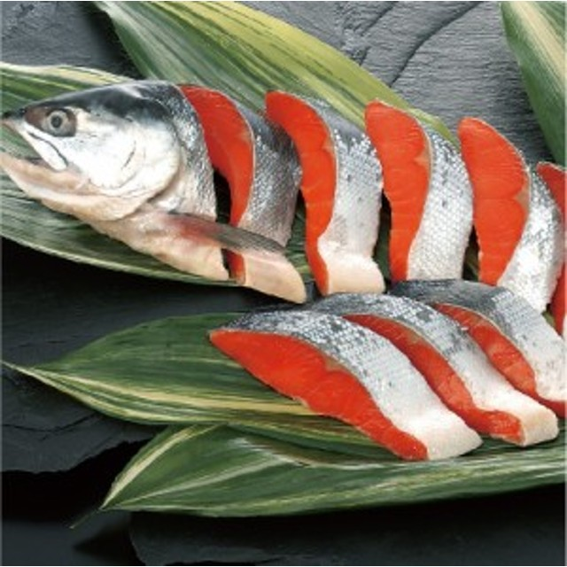 送料無料「北田水産 塩紅鮭半身姿切身用 1kg(8~10切れ)」天然紅鮭 サケ サーモン 個包装 朝食 おかず