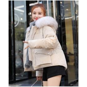 2018新品 大人気 大人 冬服 短いスタイル 毛襟 防寒 綿入れダウンコート