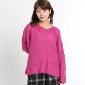 ニット・セーター - WEGO【WOMEN】 起毛VネックBIGシルエットセーター BR18WN11-L012