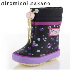 キッズ ベビー 長靴 ブーツ 防水 hiromichi nakano ヒロミチナカノ 子供靴 HN WB157R BLACK ブラック レインブーツ 防寒