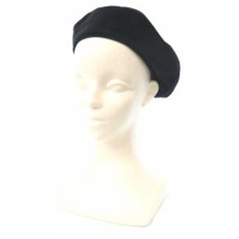 【中古】ビス ViS 帽子 ベレー帽 スエード 黒 ブラック /MK レディース