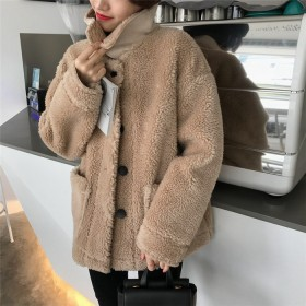 2018年新秋の作 超人気韓国ファッション 大人気/秋冬/厚さ/ルーズ/レジャー/ショートジャケット