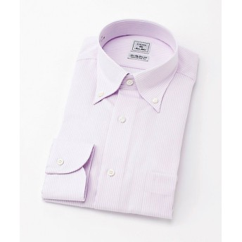 【SALE(三越)】<CHOYAシャツメーカー/CHOYA SHIRT MAKER> 長袖ストライプシャツ(CID801-410) 410ピンク 【三越・伊勢丹/公式】