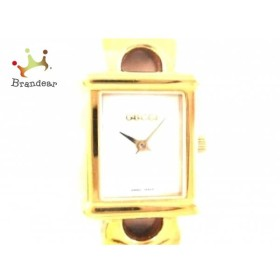 67612200076e グッチ GUCCI 腕時計 美品 - 1800L レディース 白 スペシャル特価 20190404