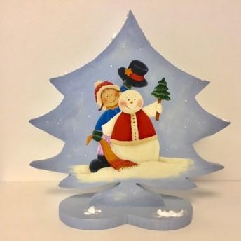スノーマンのクリスマスツリー