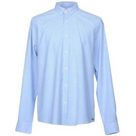 《セール開催中》GARCIA JEANS メンズ シャツ スカイブルー S 97% コットン 3% ポリウレタン