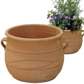 プランター 大型 植木鉢 テラコッタ 鉢 陶器鉢 おしゃれ アンティーク 風 クレタ シカリ 直径28×高さ20×底面直径20 深型 ガーデニング