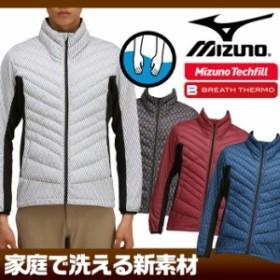 ミズノ ムーブウォーマー 長袖ジップアップ ブレスサーモ テックフィル 家庭洗濯可能 Mizuno ゴルフ 52ME6505