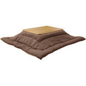 イケヒコ インド綿 こたつ厚掛け布団単品 『クレタ』 ブラウン 約2050×2050mm 1枚(直送品)