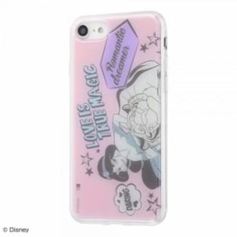 iPhone8 iPhone7 ケース ディズニー キャラクター TPUケース+背面パネル アラジン /Love is true magic アイフォン8 カバー