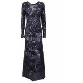 ドレス カジュアルドレス 結婚式用 レディース【Parosh Sequin Flared Maxi Dress】Blu