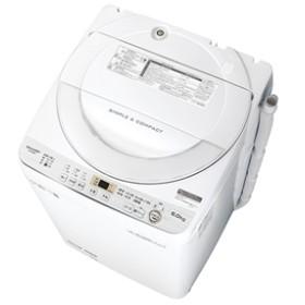 【シャープ】 洗濯機 ES-GE6C-W 全自動6-6.9kg