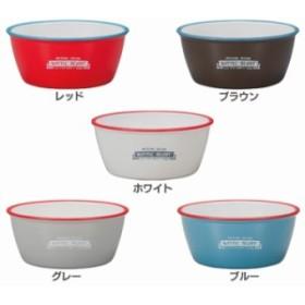 NH エマリエボウル L 45-76856-3 ボウル 食器 お皿 ホーロー風 樹脂製 おしゃれ カラフル 正和 レッ