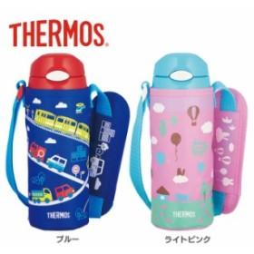 真空断熱ストローボトル 0.4L FHL-401F BL 水筒 水とう 子ども用 おでかけ サーモス ブルー ・ライ
