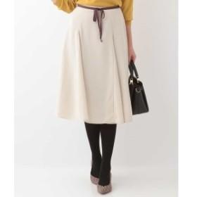 オフオン(OFUON)/グログランリボン付きフレアスカート