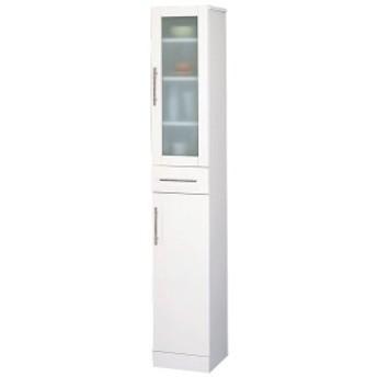 【送料無料】【TD】カトレア・ミストガラス付き食器棚30-180[幅30×高さ180cm]23462 キッチン収納 リ
