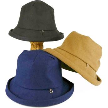 ハット - Smart Hat Factry <秋冬新作>ウールMIXメルトンエッジアップクロッシェ レディース 帽子