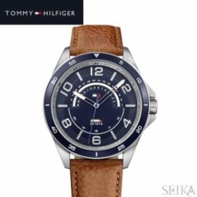 【商品入れ替えクリアランス】トミーヒルフィガー 1791391 (221) 時計 腕時計 メンズ ネイビー ブラウン レザー 青い腕時計