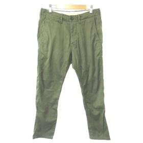 グリーンレーベルリラクシング ユナイテッドアローズ green label relaxing パンツ テーパード ジップフライ S 緑 グリーン /Y2I30 メンズ【中古】