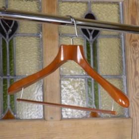 ジャケットハンガー 木製 ズボン掛け ブラウン 45cm[rev48777]